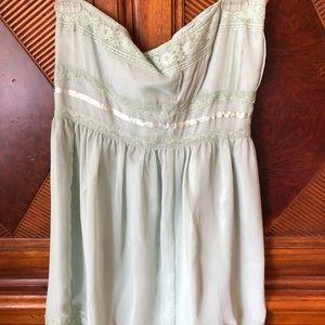 NWOT mint green mini dress chiffon